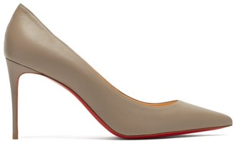 Christian Louboutin Kate 85 Leather Pumps - Womens - Grey