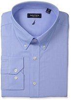 Nautica Men's Solid Oxford Button-Down Dress Shirt