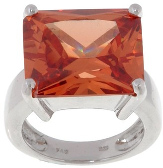 Icz Stonez Sterling Silver Champagne CZ Bold Ring