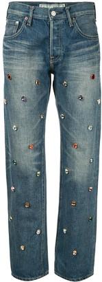 Tu es mon TRÉSOR bijou gem studded jeans