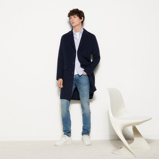 Sandro Double-sided wool coat