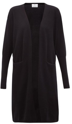 Allude Slip-pocket Cashmere Cardigan - Black