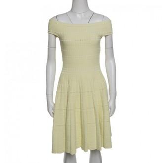 Alexander McQueen Yellow Cotton Dresses