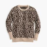 J.Crew Italian cashmere leopard sweater
