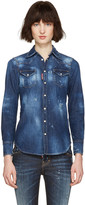 DSQUARED2 Blue Denim Western Shirt