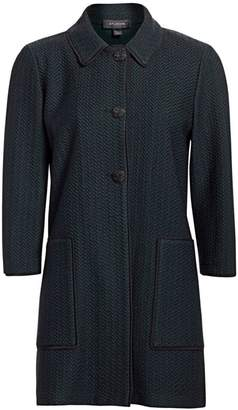 St. John Refined Texture Herringbone Jacket