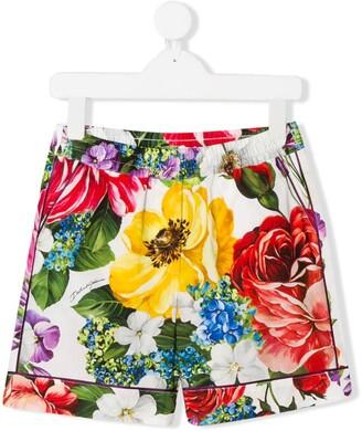 Dolce & Gabbana Kids Floral Print Shorts