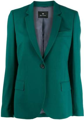 Paul Smith one-button fitted blazer