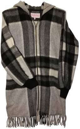 Byblos Grey Tweed Coat for Women