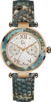 Gc Y09002L1 Lady Chic stainless steel and leather watch