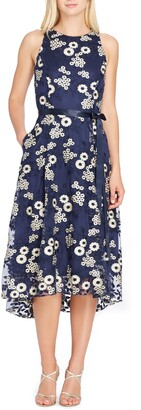 Tahari Floral Embroidered Dress