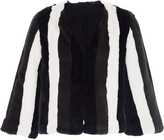 Anna Sui Paneled Faux Fur Jacket