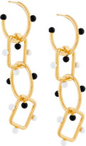 Marni drop chain pendant earrings