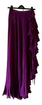 La Perla Purple Silk Skirts