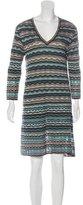 M Missoni Striped Long Sleeve Dress