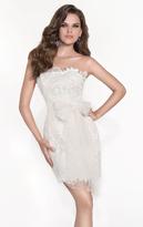Tarik Ediz Floral Lace Cocktail Dress 90450