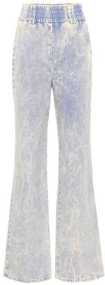 Miu Miu High-waisted flared jeans