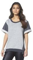 Mossimo Women's Short Sleeve Sweatshirt - Gray Ice