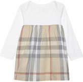 Burberry Cherrylina check cotton dress & gusset 3-24 months