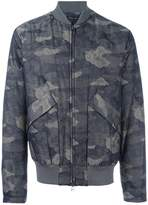 Helmut Lang camouflage print bomber jacket
