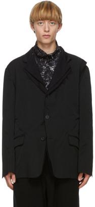 Yohji Yamamoto Black Layered Blazer