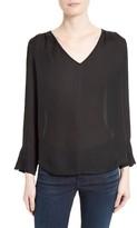 Joie Women's Theda V-Neck Silk Blouse