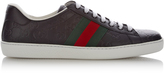 Gucci GG debossed low-top leather trainers