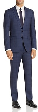 BOSS Huge/Genius Windowpane Plaid Slim Fit Suit