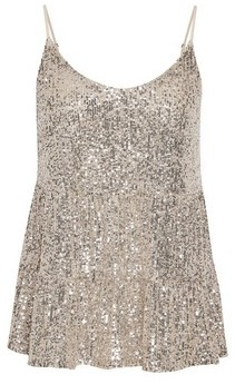 Dorothy Perkins Womens Dp Petite Tiered Sequin Camisole Top