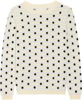 Chinti and Parker Intarsia Cashmere Sweater - Cream