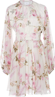 Giambattista Valli Floral-Print Silk-Chiffon Mini Dress