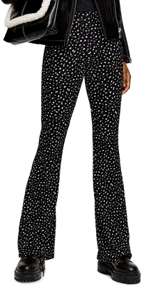 Topshop Ditsy Floral Flare Trousers