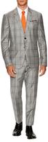 Paul Smith Wool Print Plaid Suit