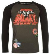 Character Mens Guardians of the Galaxy Raglan T Shirt Cotton Print Crew Neck