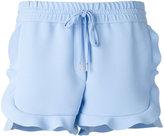 Carven ruffled shorts - women - Silk/Polyester/Acetate - 38