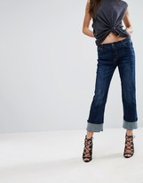G Star G-Star Lanc Kick Crop Flare Jean With Seam Detail