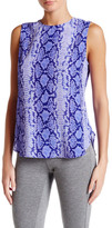Equipment Lyle Animal Print Silk Tank