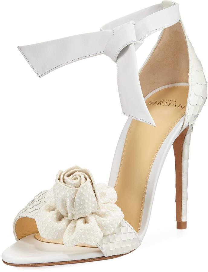 Alexandre Birman Clarita Blossom Python Sandal