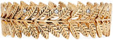 Arizona Decree Leaf Gold-Tone Stretch Bracelet