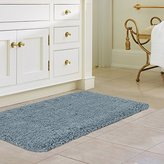 "Norcho Soft Microfiber Water Absorbent Non-slip Antibacterial Rubber Luxury Bath Mat Rug 17""x27"" Mint Green"