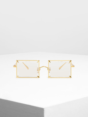 Charles & Keith Square Wire Frame Sunglasses