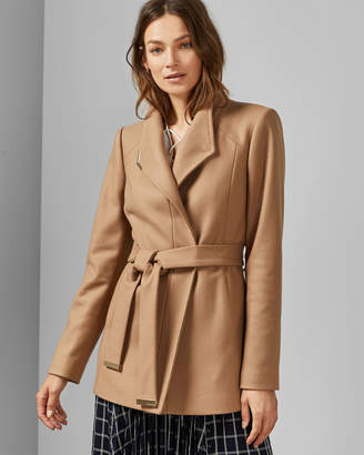 Ted Baker DRYTAA Short belted wool wrap coat