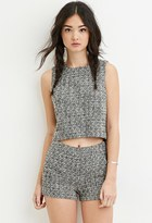 Forever 21 Two-Tone Boucle Shorts
