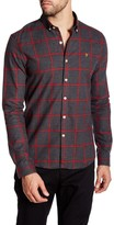 Farah Umber Plaid Long Sleeve Slim Fit Shirt