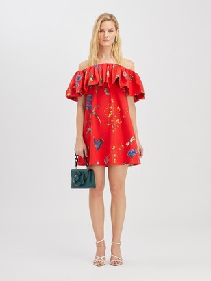 Oscar de la Renta Botanical Garden Ruffle Dress