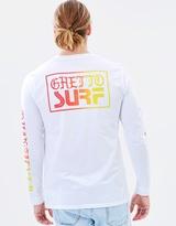 Quiksilver Mens Ghetto Surf Long Sleeve T Shirt