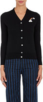 Marc Jacobs Women's Rainbow-Patch Merino Wool Cardigan-Black