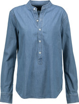 3x1 WT Mandarin Collar Popover denim shirt