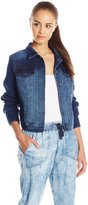 Silver Jeans Junior's Vintage Joga Jacket with Knit Sleeve