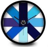 RFVBNM Creative trend gradient Blue adjustable living room wall Clock